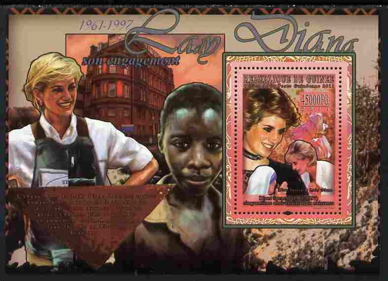 Guinea - Conakry 2011 50th Birth Anniversary of Princess Diana #2 perf s/sheet unmounted mint Michel BL 1912
