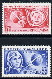 Rumania 1963 Second 'Team' Manned Space Flight set of 2 unmounted mint, SG 3028-29, Mi 2171-72