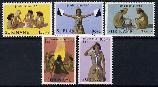 Surinam 1961 Girl Scout Jamborette set of 5 unmounted mint, SG 495-99*