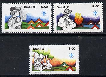 Brazil 1981 Pan American Jamboree set of 3, SG 1886-88 unmounted mint*
