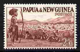 Papua New Guinea 1952-58 Shepherd with Sheep 2s6d unmounted mint SG 13