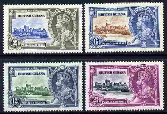 British Guiana 1935 KG5 Silver Jubilee set of 4 mounted mint SG301-4