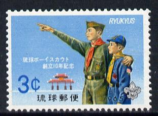 Ryukyu Islands 1965 Scout Anniversary unmounted mint, SG 165*