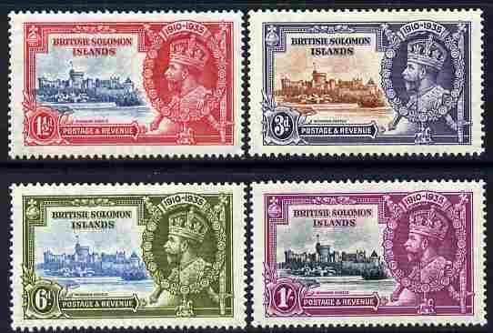 Solomon Islands 1935 KG5 Silver Jubilee set of 4 mounted mint SG 53-56