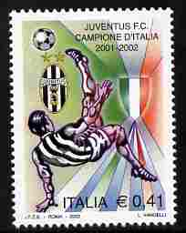 Italy 2002 Juventus National Football Champions 41c unmounted mint SG 2763