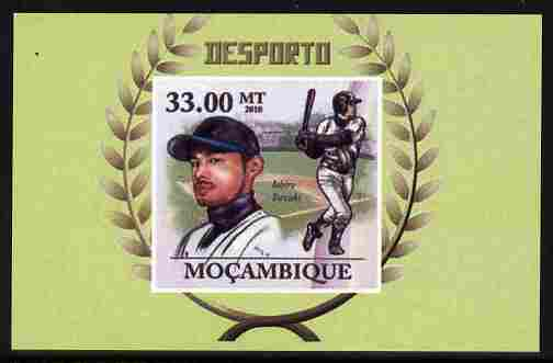 Mozambique 2011 Ichiro Suzuki (baseball) imperf souvenir sheet unmounted mint. Note this item is privately produced and is offered purely on its thematic appeal