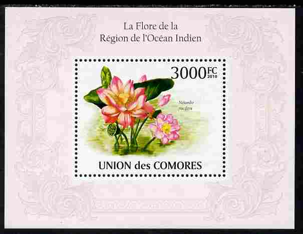 Comoro Islands 2010 Flowers from the Indian Ocean Region perf s/sheet unmounted mint, Michel BL 567