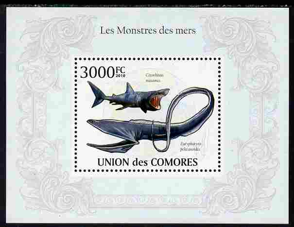 Comoro Islands 2010 Monsters of the Sea perf s/sheet unmounted mint, Michel BL 574