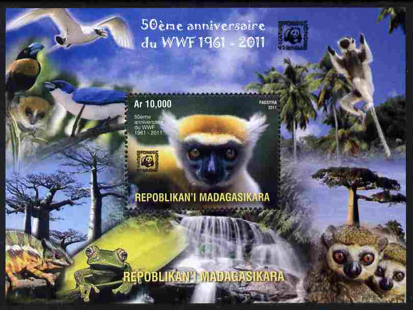 Madagascar 2011 WWF - 50th Anniversary of WWF perf m/sheet unmounted mint. Note this item is privately produced and is offered purely on its thematic appeal