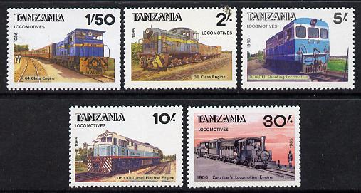 Tanzania 1985 Railways (2nd Series) set of 5 unmounted mint SG 445-9