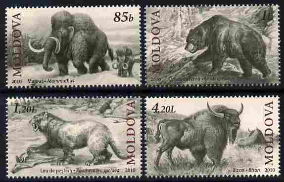 Moldova 2010 Pre-historic Animals perf set of 4 unmounted mint