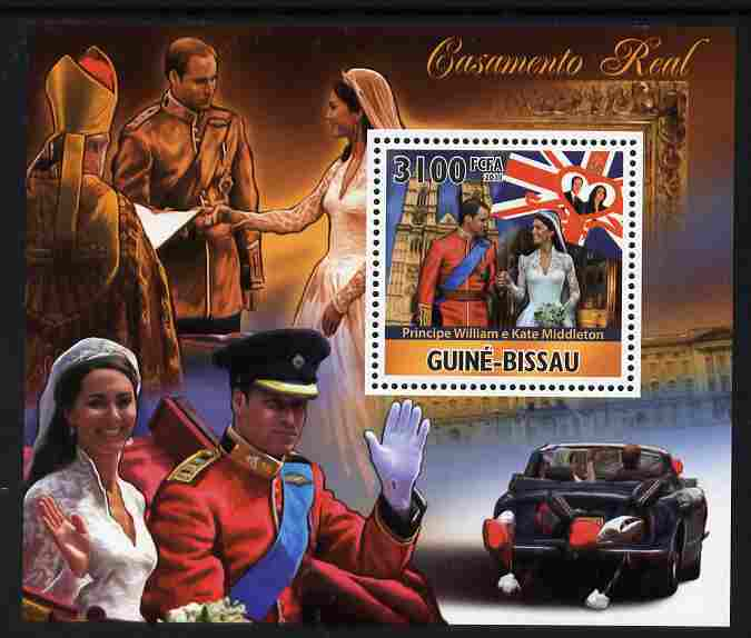Guinea - Bissau 2011 Royal Wedding - William & Kate #1 perf s/sheet unmounted mint