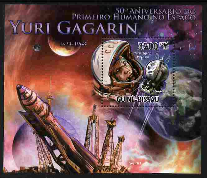 Guinea - Bissau 2011 50th Anniversary of First Man in Space - Yuri Gagarin perf s/sheet unmounted mint