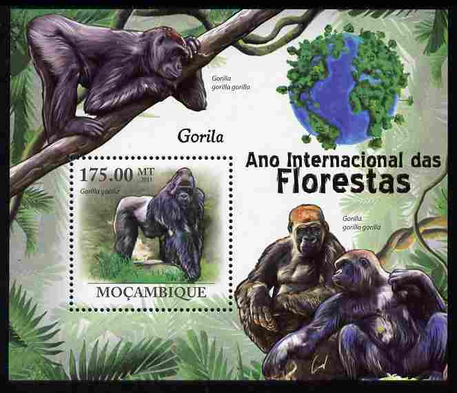 Mozambique 2011 International Year of Forests - Gorillas perf s/sheet unmounted mint