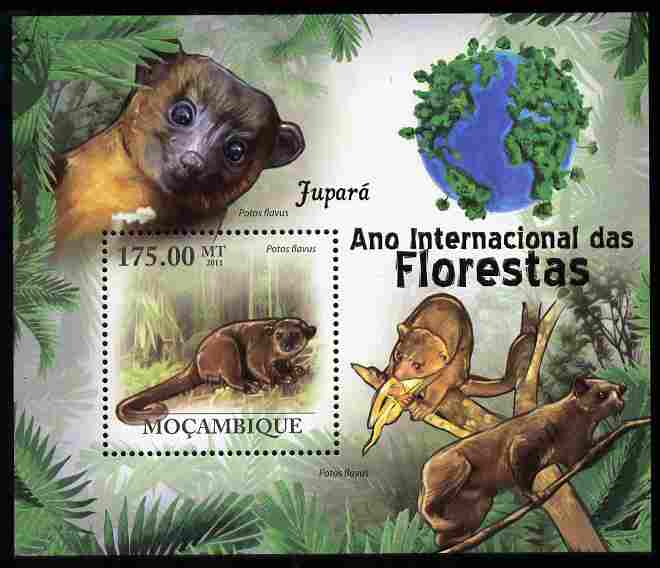 Mozambique 2011 International Year of Forests - Honey Bear perf s/sheet unmounted mint, stamps on , stamps on  stamps on forests, stamps on  stamps on trees, stamps on  stamps on animals, stamps on  stamps on bears
