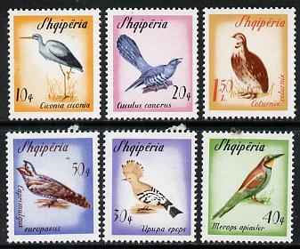 Albania 1965 Migratory Birds set of 6 unmounted mint, SG 933-38*