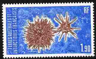 French Southern & Antarctic Territories 1986 Echinoderms 1f90 unmounted mint SG 211