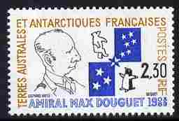 French Southern & Antarctic Territories 1991 Admiral Max Douguet Commemoration 2f30 unmounted mint SG 274