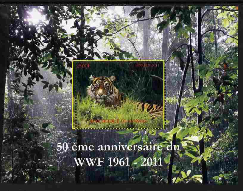 Congo 2011 WWF - 50th Anniversary - Tiger perf m/sheet unmounted mint. Note this item is privately produced and is offered purely on its thematic appeal