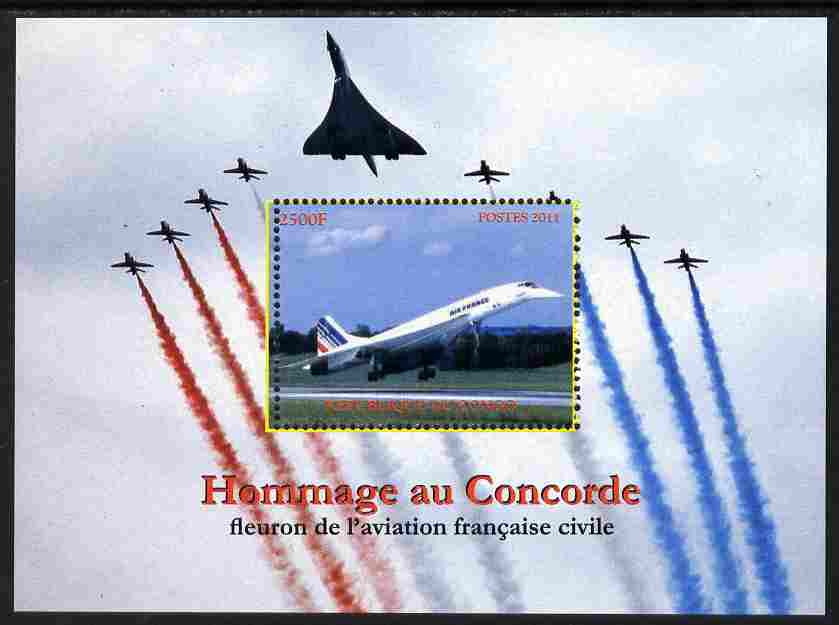 Congo 2011 In Memory of Concorde perf m/sheet unmounted mint. Note this item is privately produced and is offered purely on its thematic appeal