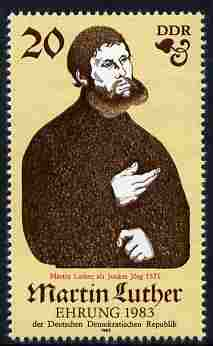 Germany - East 1983 500th Birth Anniversary of Martin Luther (Protestant) perf 20pf unmounted mint