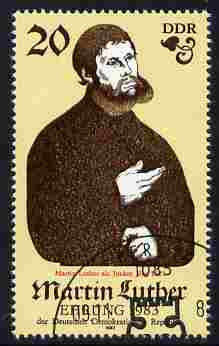 Germany - East 1983 500th Birth Anniversary of Martin Luther (Protestant) perf 20pf fine used