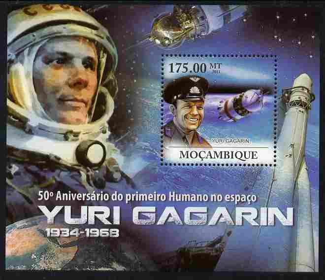 Mozambique 2011 50th Anniversary of First Man in Space - Yuri Gagarin perf s/sheet unmounted mint