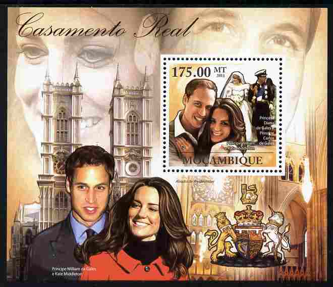Mozambique 2011 Royal Wedding - William & Kate perf s/sheet unmounted mint