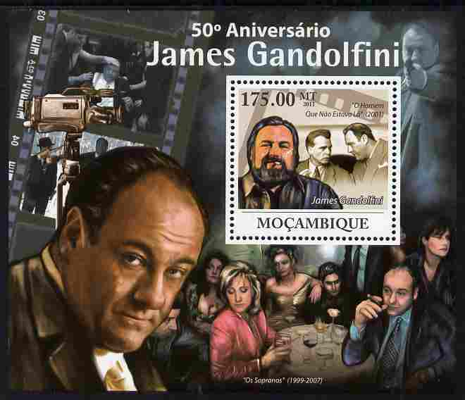 Mozambique 2011 50th Birth Anniversary of James Gandolfini perf s/sheet unmounted mint