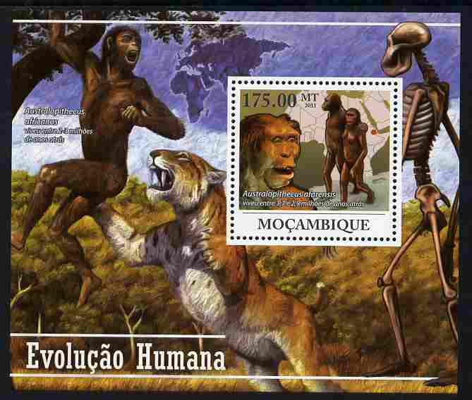 Mozambique 2011 Human Evolution perf s/sheet unmounted mint