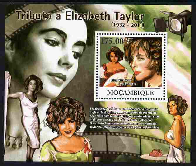 Mozambique 2011 Tribute to Elizabeth Taylor (actress) perf s/sheet unmounted mint