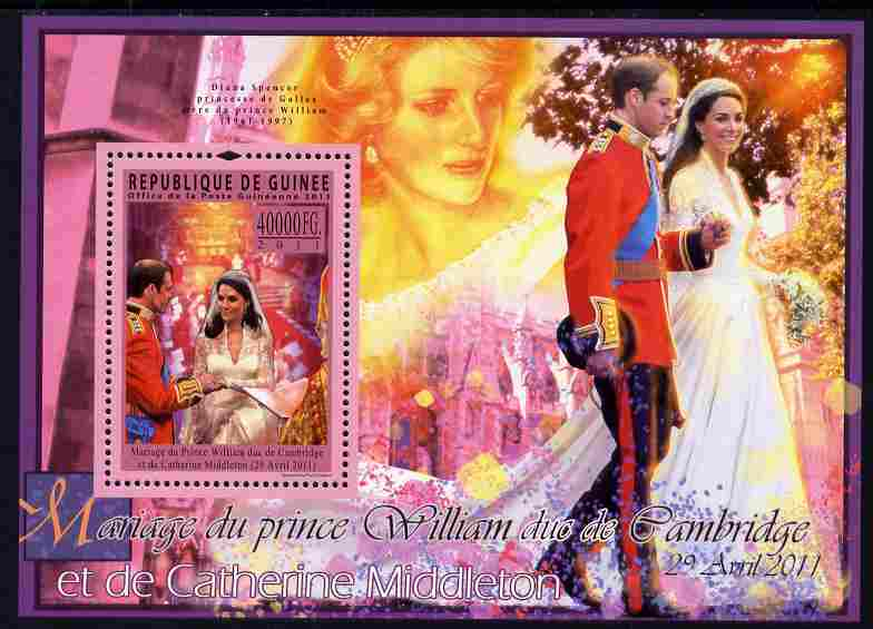 Guinea - Conakry 2011 Royal Wedding - William & Kate perf s/sheet unmounted mint