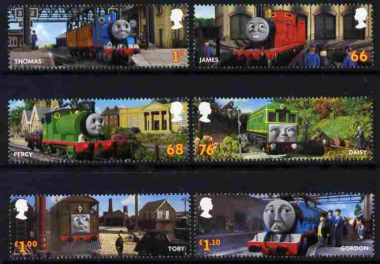 Great Britain 2011 Thomas the Tank Engine perf set of 6 unmounted mint