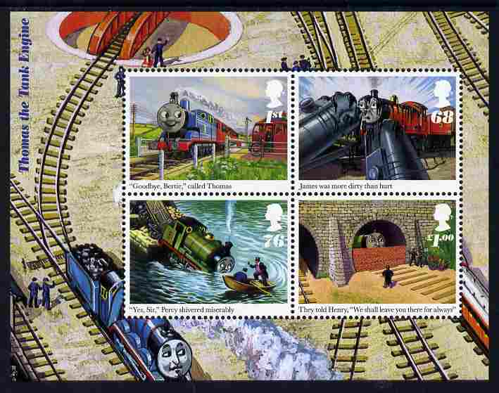 Great Britain 2011 Thomas the Tank Engine perf m/sheet unmounted mint