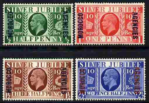 Morocco Agencies - British Currency 1935 KG5 Silver Jubilee set of 4 mounted mint SG 62-65