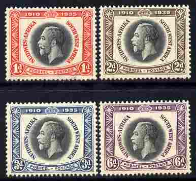 South West Africa 1935 KG5 Silver Jubilee set set of 4 mounted mint, SG 88-91