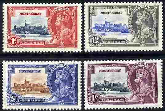 Montserrat 1935 KG5 Silver Jubilee set set of 4 mounted mint, SG 94-7