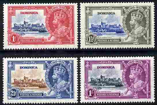Dominica 1935 KG5 Silver Jubilee set set of 4 mounted mint, SG 92-5