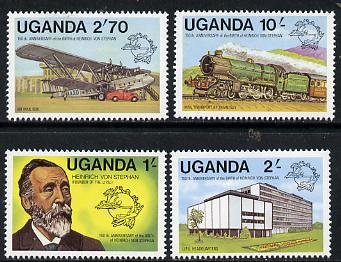 Uganda 1981 Birth Anniversary of von Stephan (Founder of UPU) set of 4, SG 336-39 unmounted mint