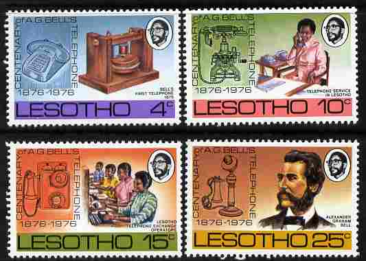 Lesotho 1976 Telephone Centenary set of 4 unmounted mint, SG 318-21