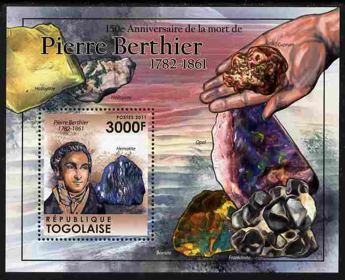 Togo 2011 150th Death Anniversary of Pierre Berthier perf s/sheet unmounted mint