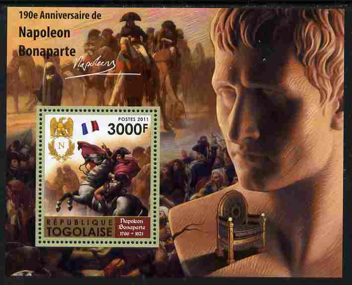 Togo 2011 190th Death Anniversary of Napoleon Bonaparte perf s/sheet unmounted mint