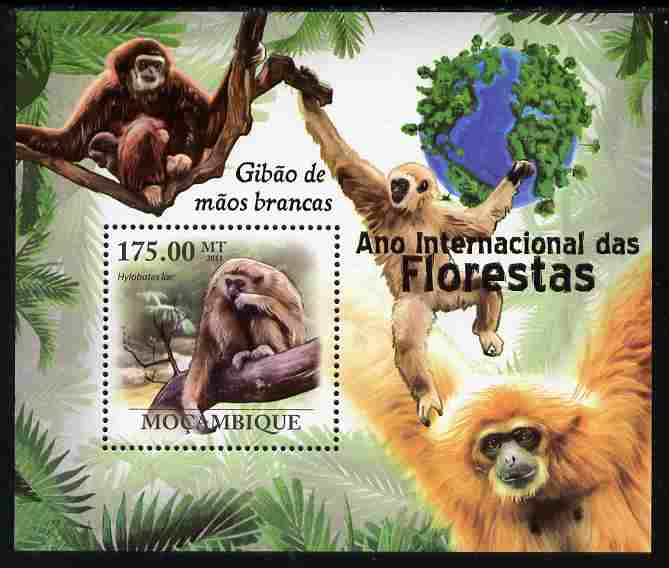 Mozambique 2011 International Year of the Forest - Monkeys perf s/sheet unmounted mint