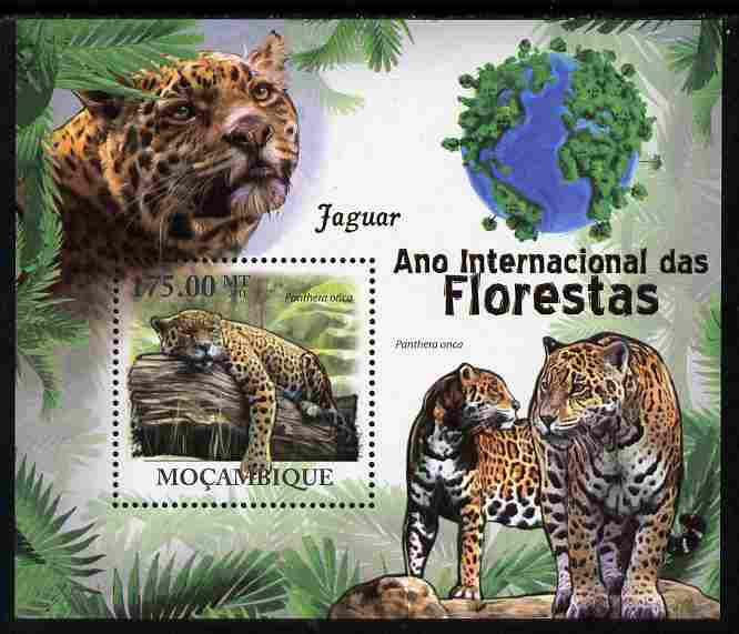 Mozambique 2011 International Year of the Forest - Jaguars perf s/sheet unmounted mint