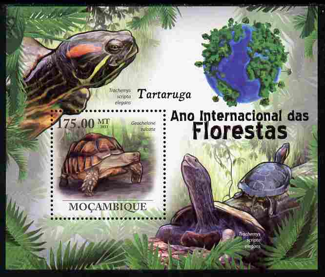 Mozambique 2011 International Year of the Forest - Turtles perf s/sheet unmounted mint
