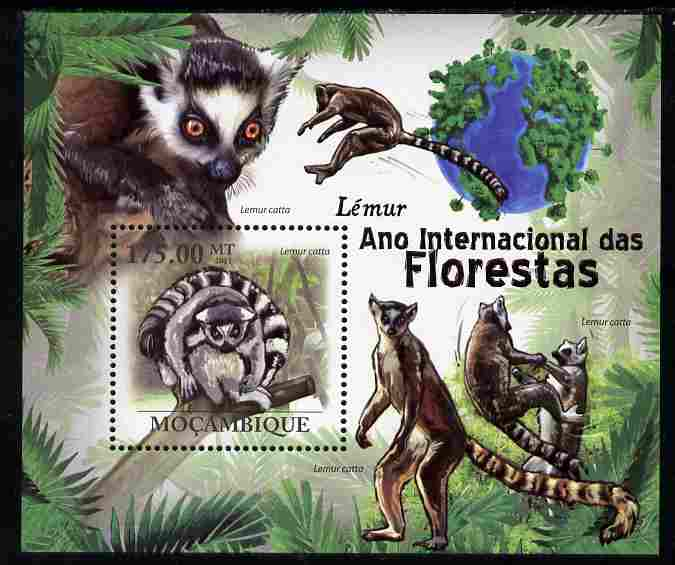 Mozambique 2011 International Year of the Forest - Lemurs perf s/sheet unmounted mint