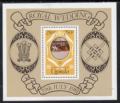 Uganda 1981 Royal Wedding redrawn m/sheet unmounted mint, SG MS 348