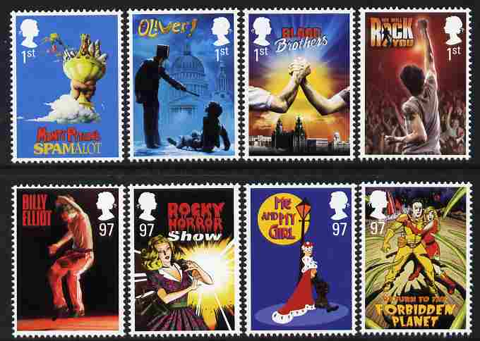 Great Britain 2011 Musicals perf set of 8 values unmounted mint SG 3145-52