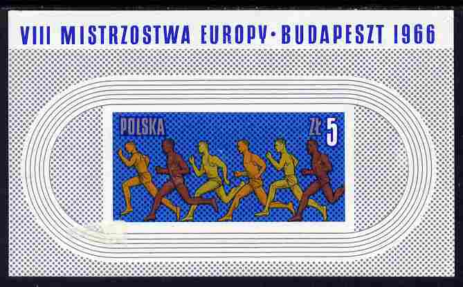 Poland 1966 European Athletic Championships imperf m/sheet unmounted mint, SG MS 1667