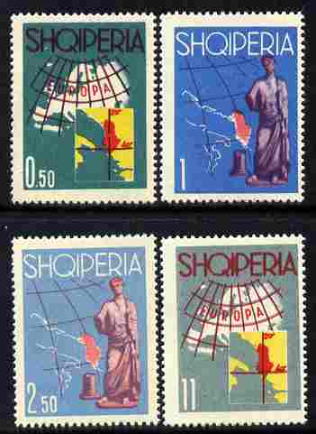 Albania 1962 Tourist Publicity (Europa) perf set of 4 unmounted mint SG 716-719